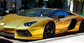 gouden auto huren